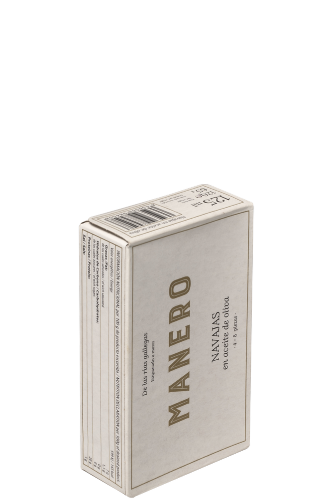 Lata de Navajas en aceite de oliva MANERO