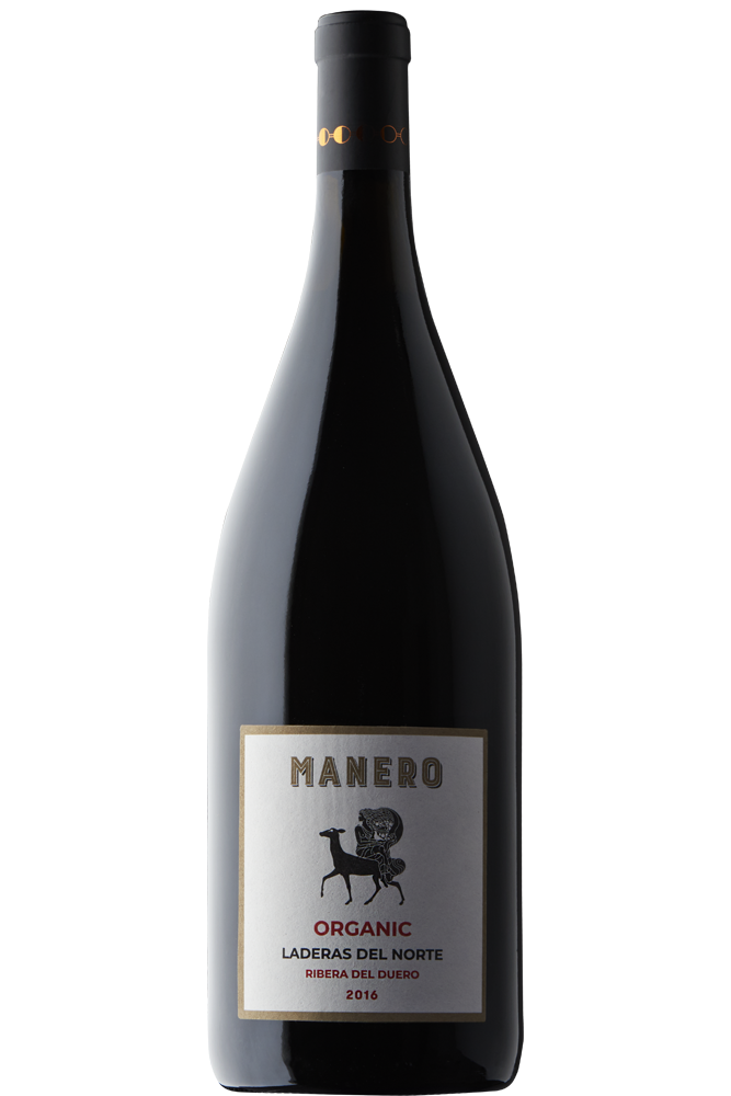 Botella de vino Laderas del Norte MANERO tinto tempranillo D.O Ribiera del Duero