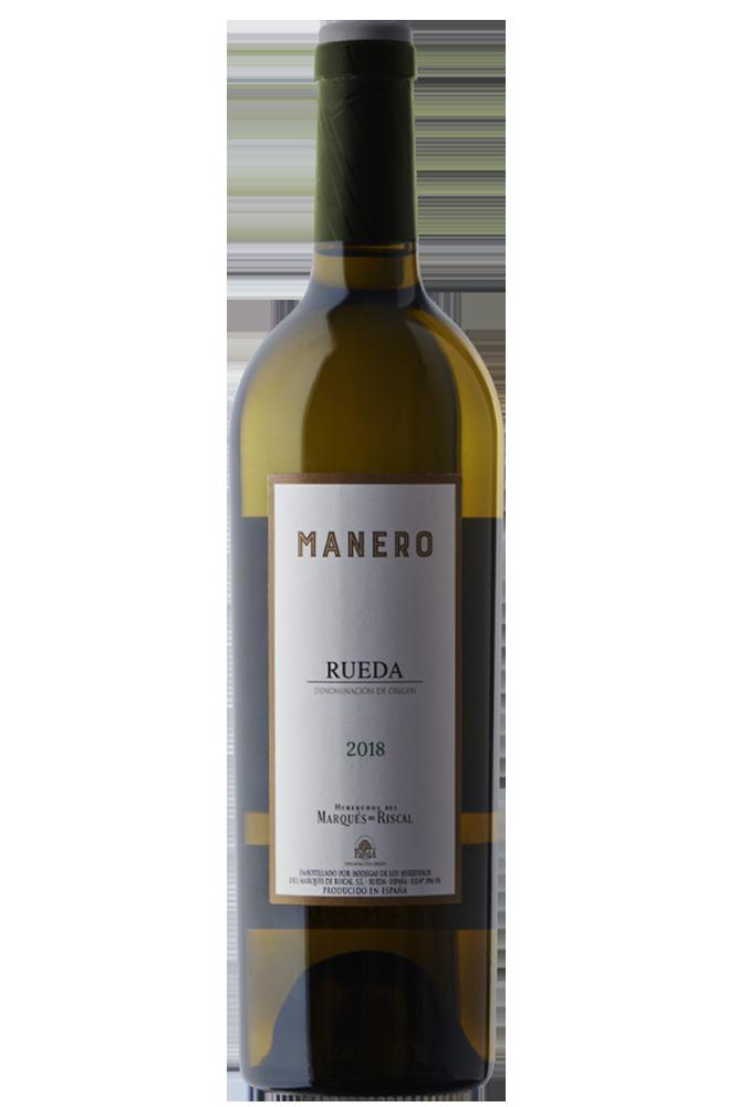Botella de vino blanco verdejo Rueda MANERO D.O Rueda Herederos Del Marqués Del Riscal
