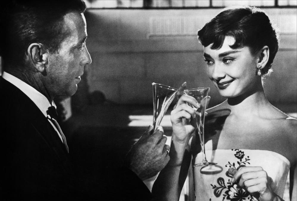 Humphrey Borgart y Audrey Hepburn