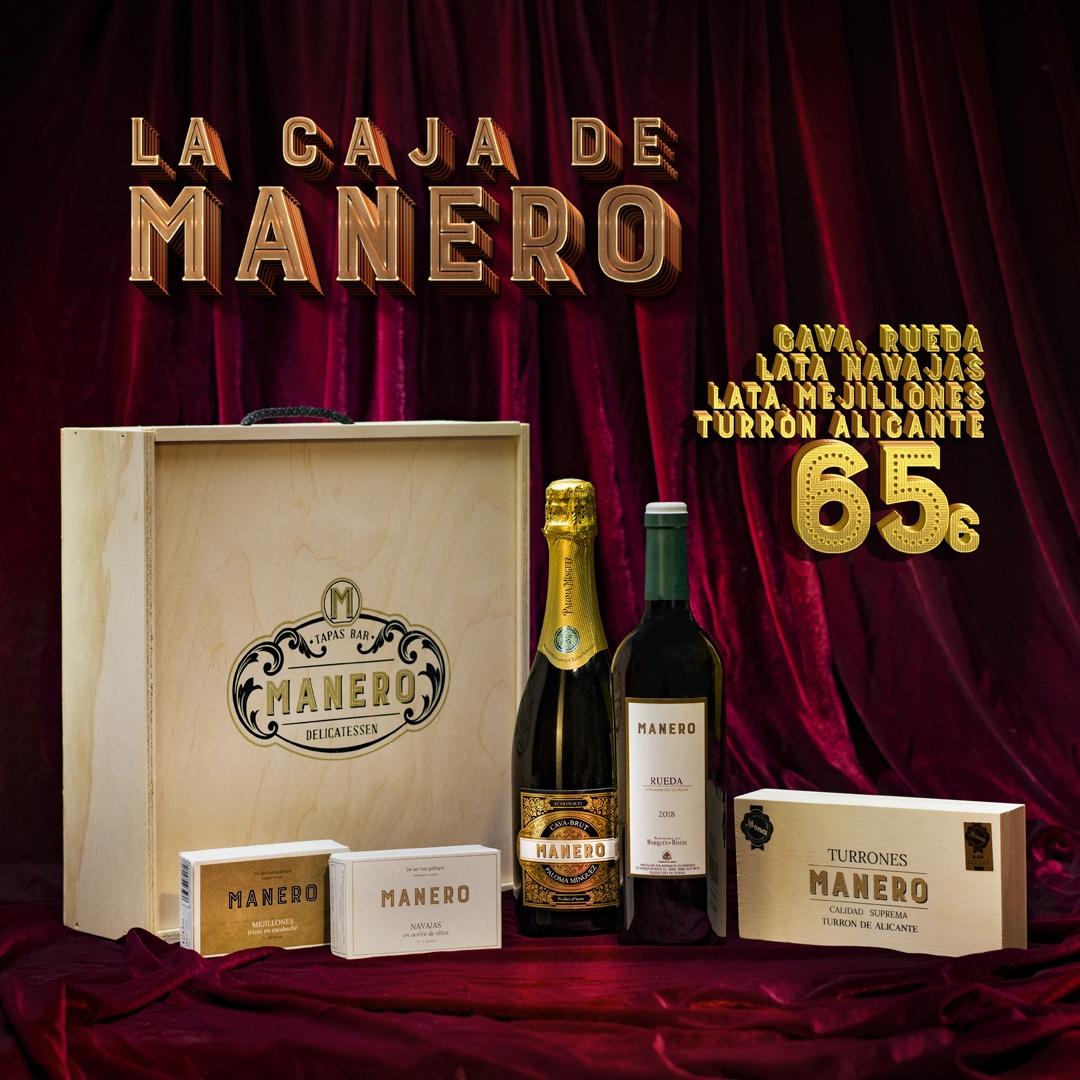 Caja Manero Cava, Rueda, Conservas y Turrón 65€